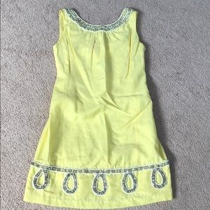 Lilly Pulitzer rare yellow beaded Jubilee dress